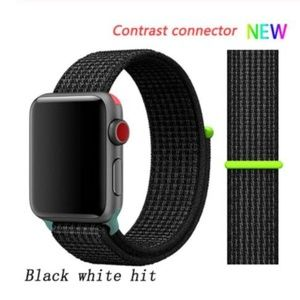 *❤️NEW Black Hit Sport Loop Strap For Apple Watch